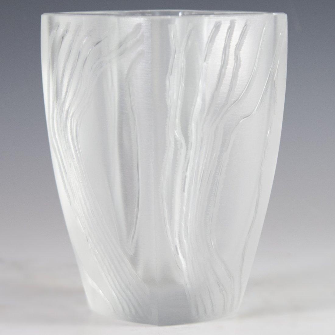 """Lalique Crystal """"Yasna"""" Vase"""
