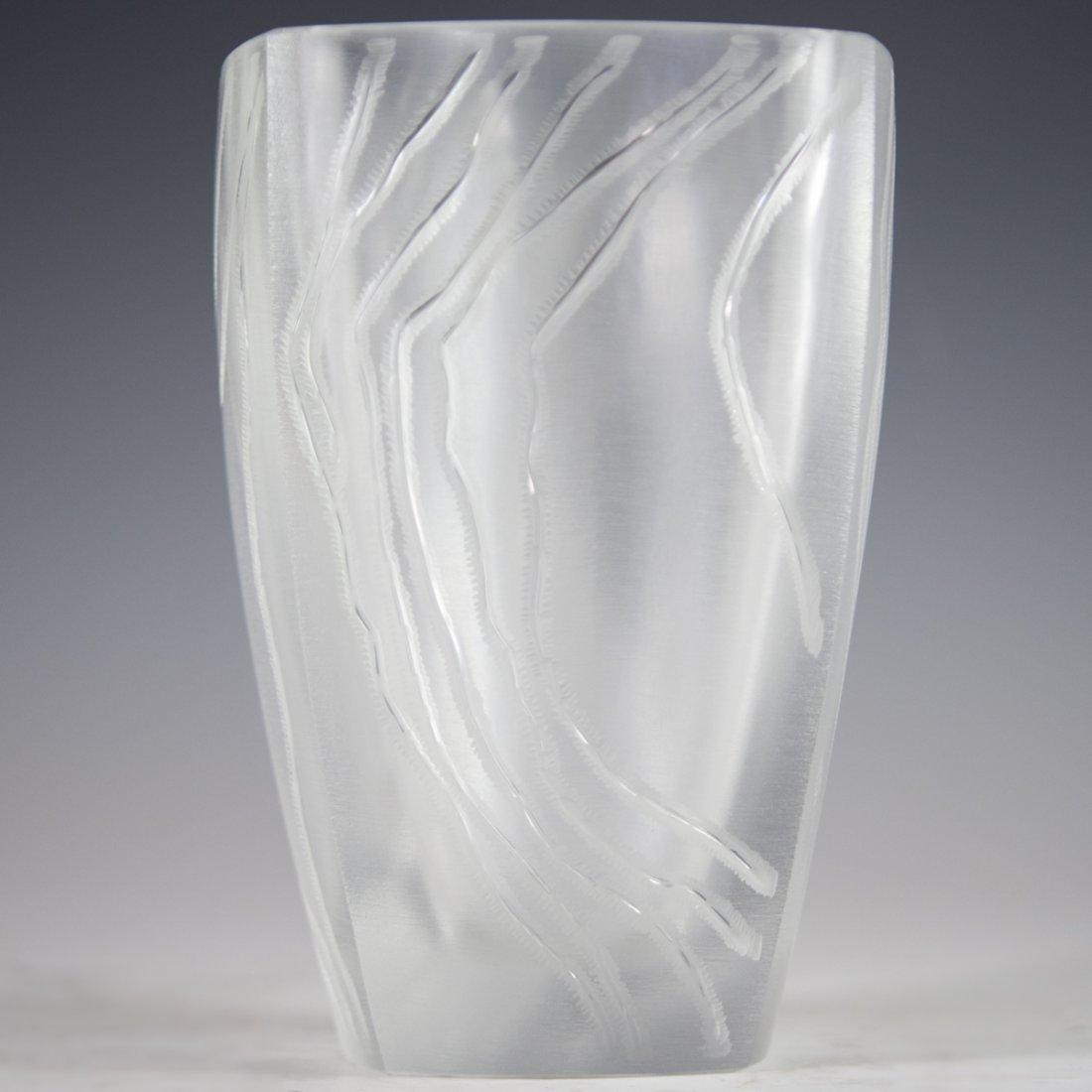 """Lalique Crystal """"Yasna"""" Vase - 4"""