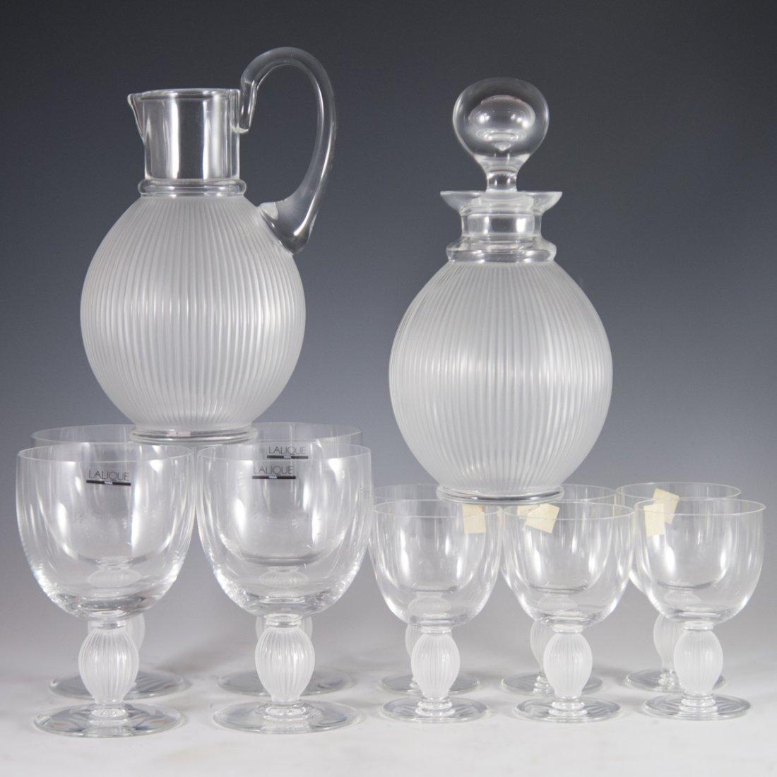 "Lalique Crystal ""Langeais"" Stemware"