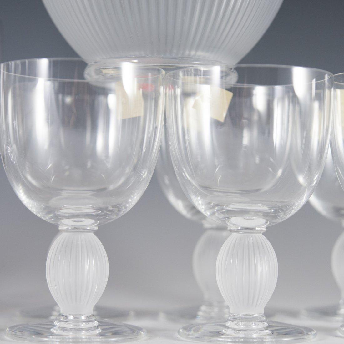 "Lalique Crystal ""Langeais"" Stemware - 2"