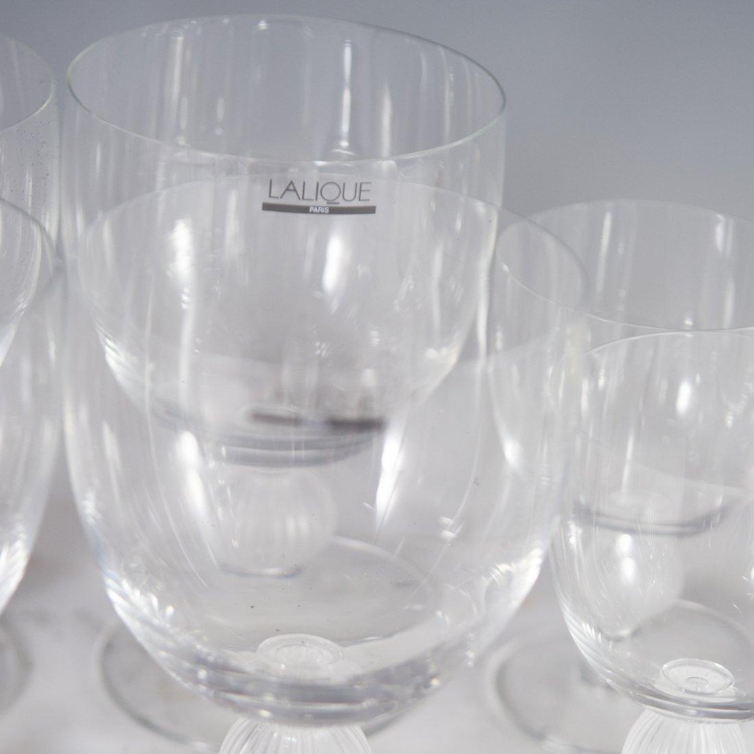 "Lalique Crystal ""Langeais"" Stemware - 9"