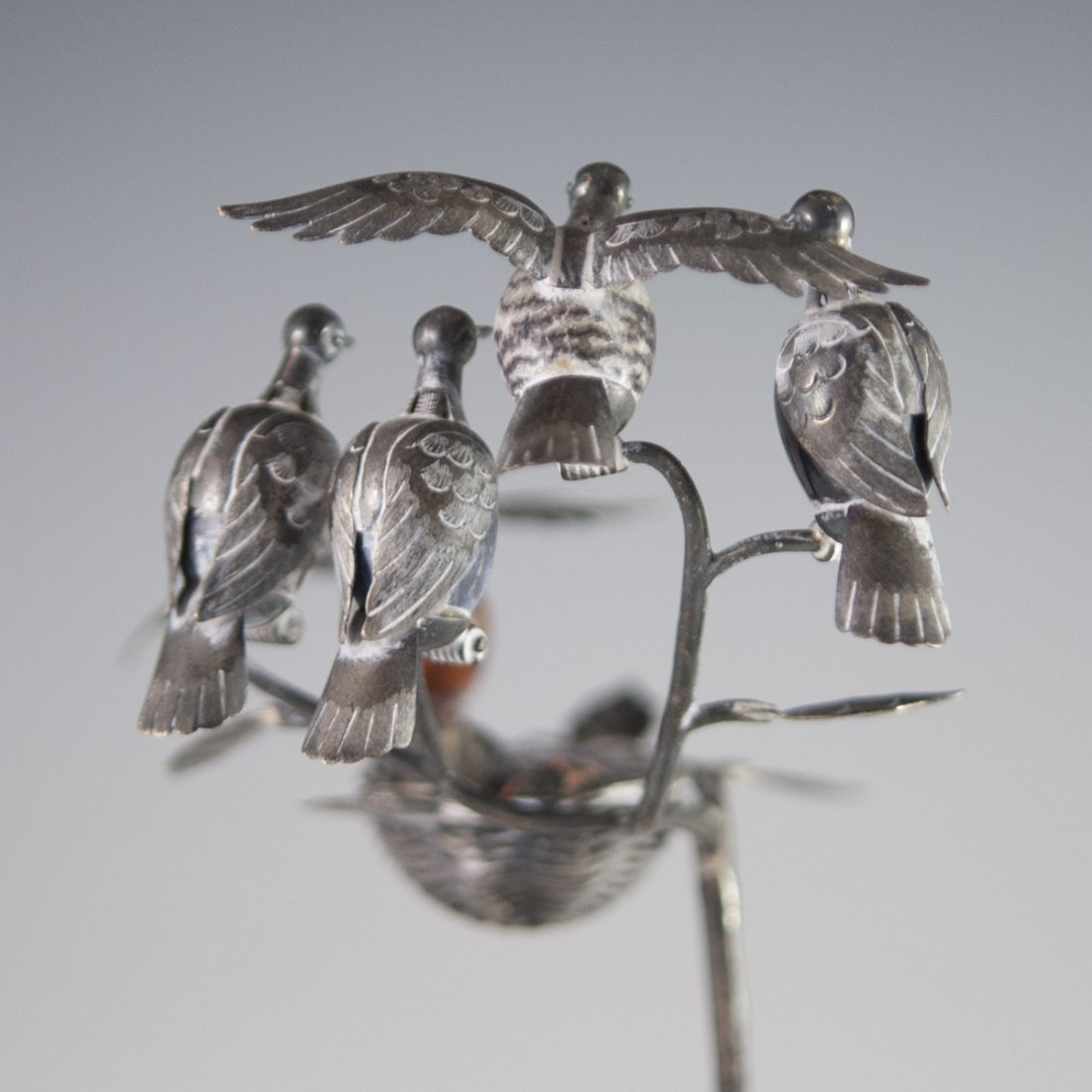 Mexican Sterling Bird Figurine - 5