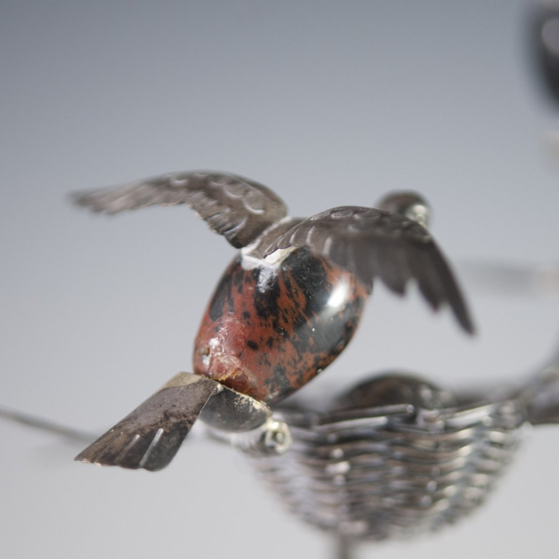 Mexican Sterling Bird Figurine - 6