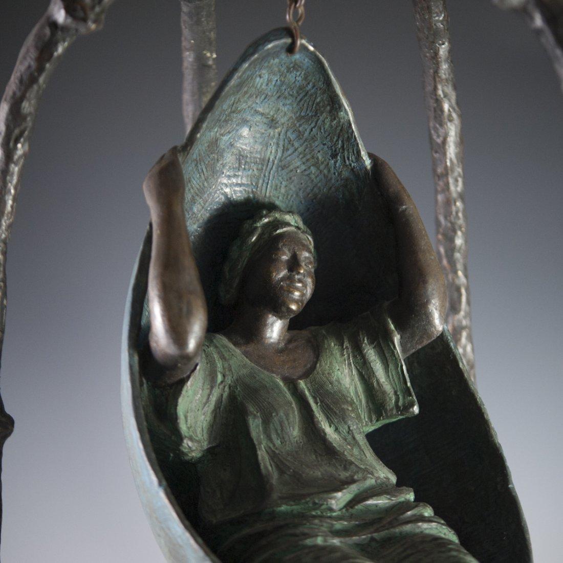 """Mujer en Columpio"" Mexican Bronze - 2"