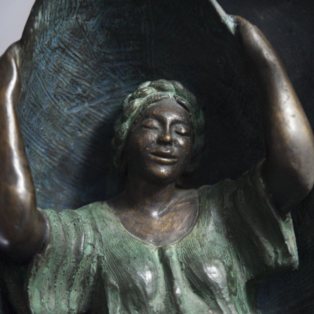 """Mujer en Columpio"" Mexican Bronze - 4"