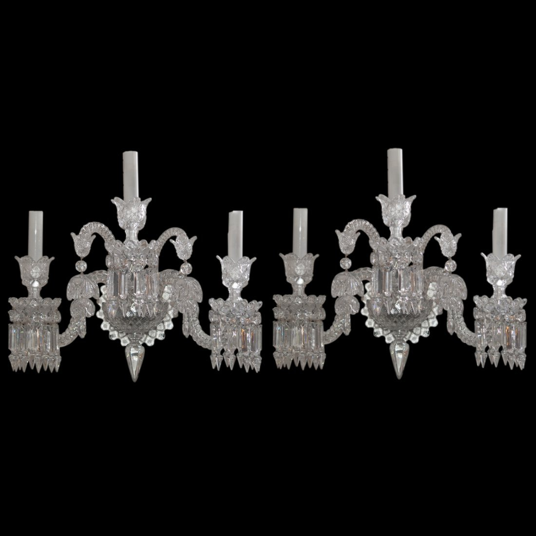 "Baccarat Crystal ""Zenith"" Sconces"
