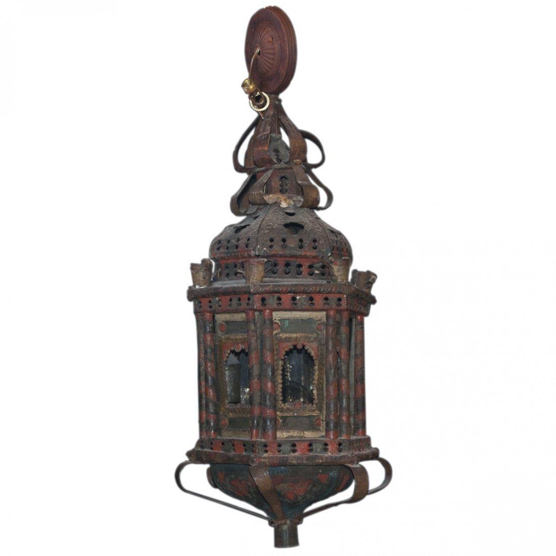 Oriental Cast Iron Chandelier