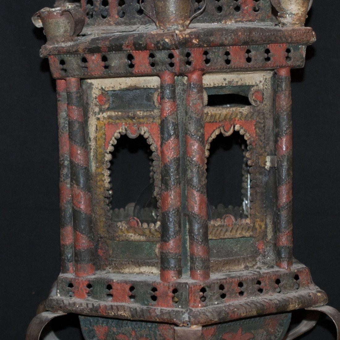 Oriental Cast Iron Chandelier - 2