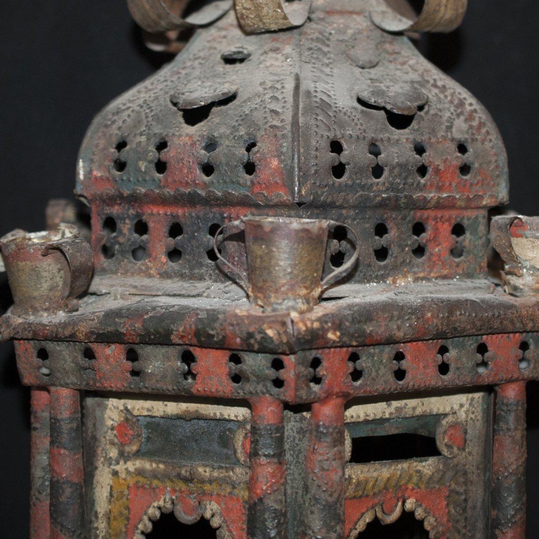 Oriental Cast Iron Chandelier - 3