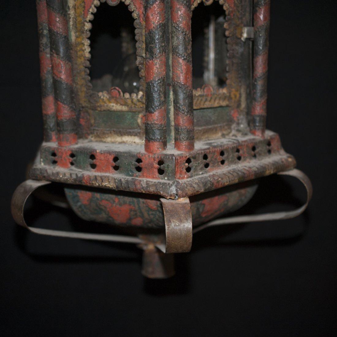 Oriental Cast Iron Chandelier - 4