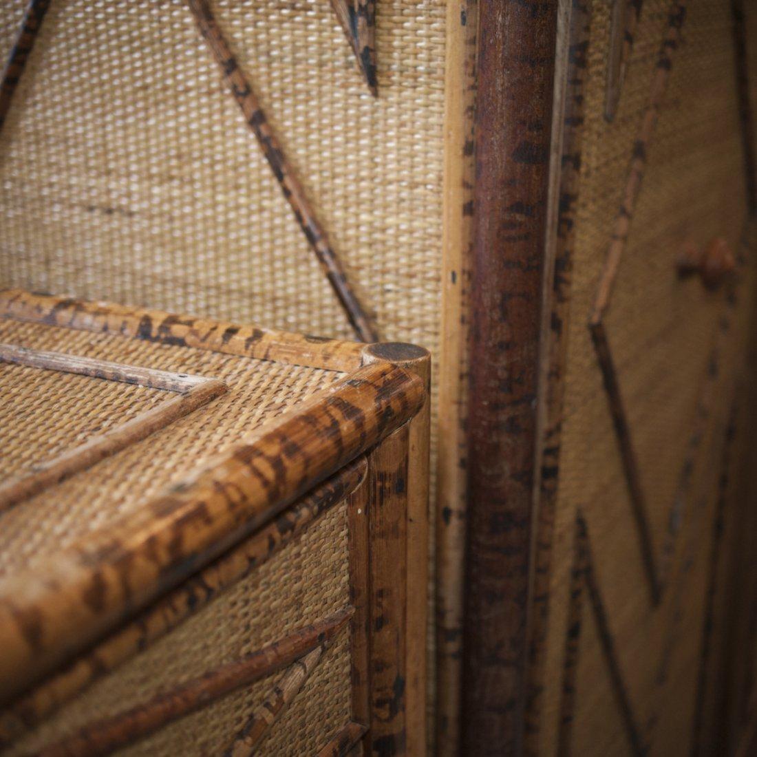 Vintage Wicker & Bamboo Furniture Set - 4
