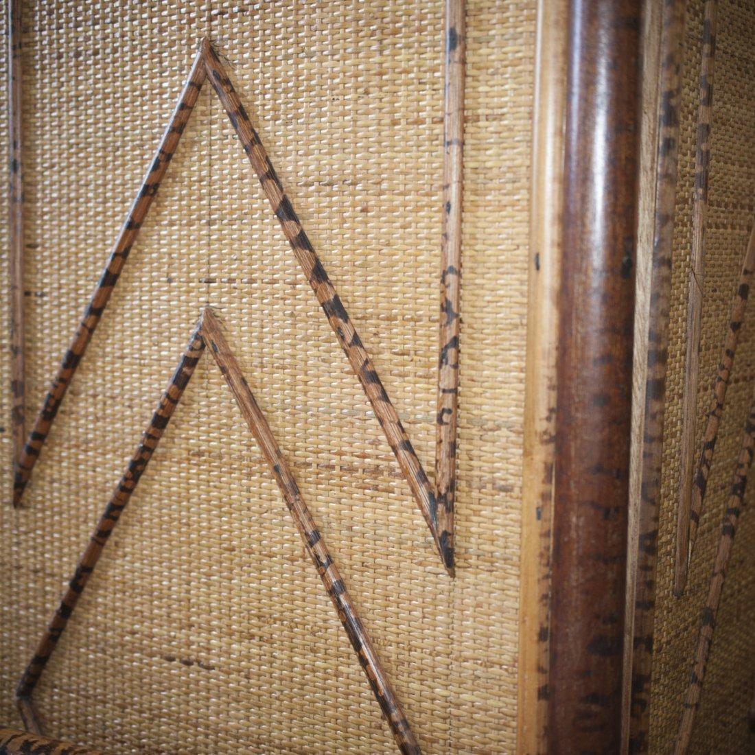 Vintage Wicker & Bamboo Furniture Set - 5