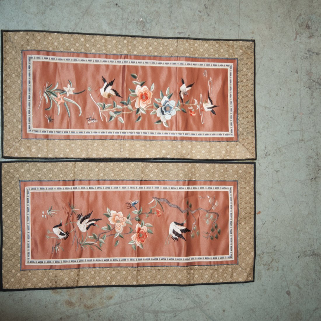 Pair of Chinese Silk Embroideries