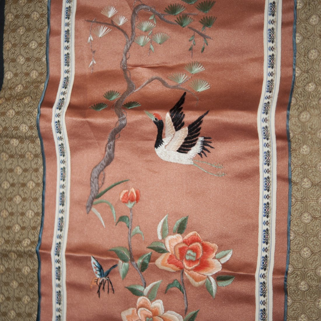 Pair of Chinese Silk Embroideries - 2