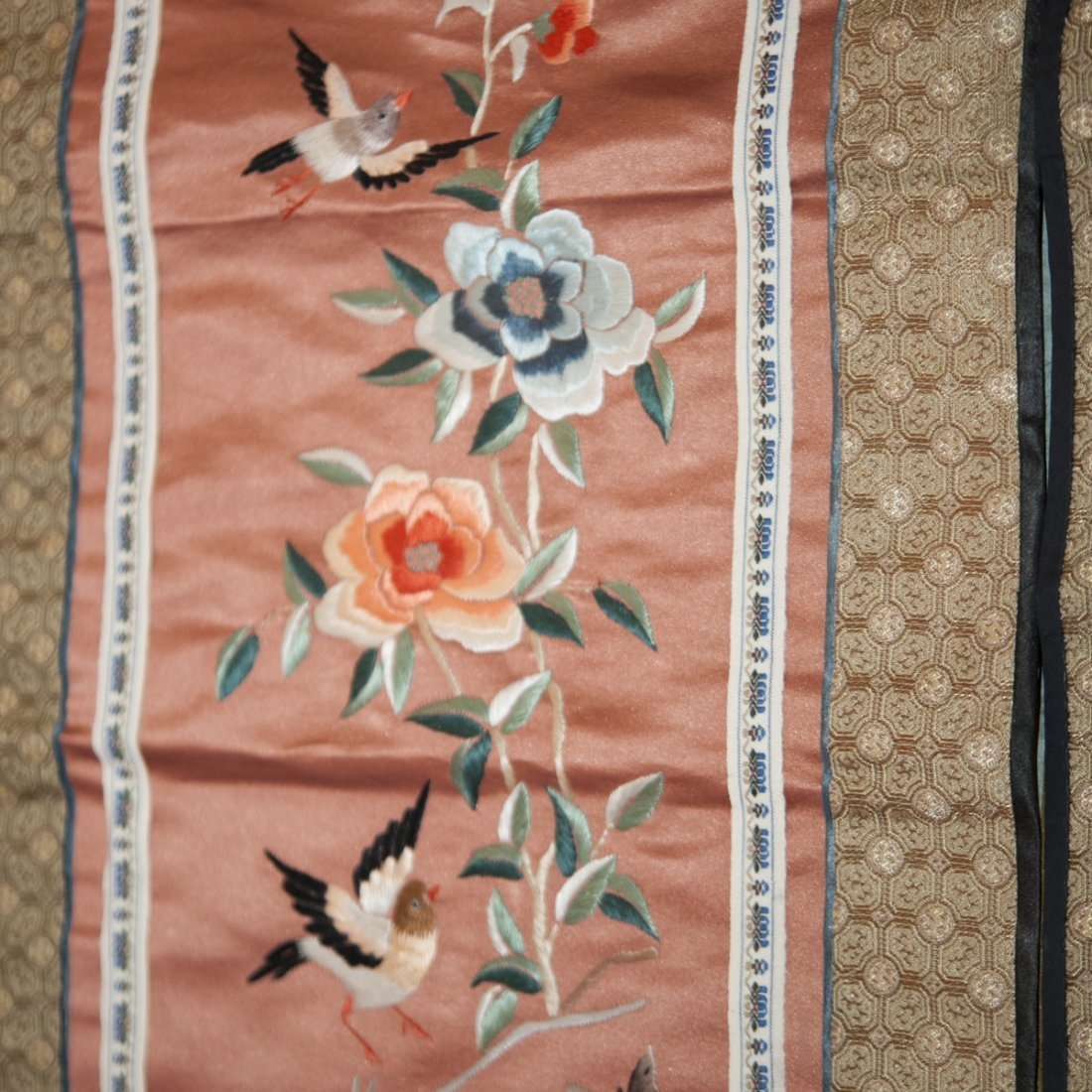 Pair of Chinese Silk Embroideries - 3