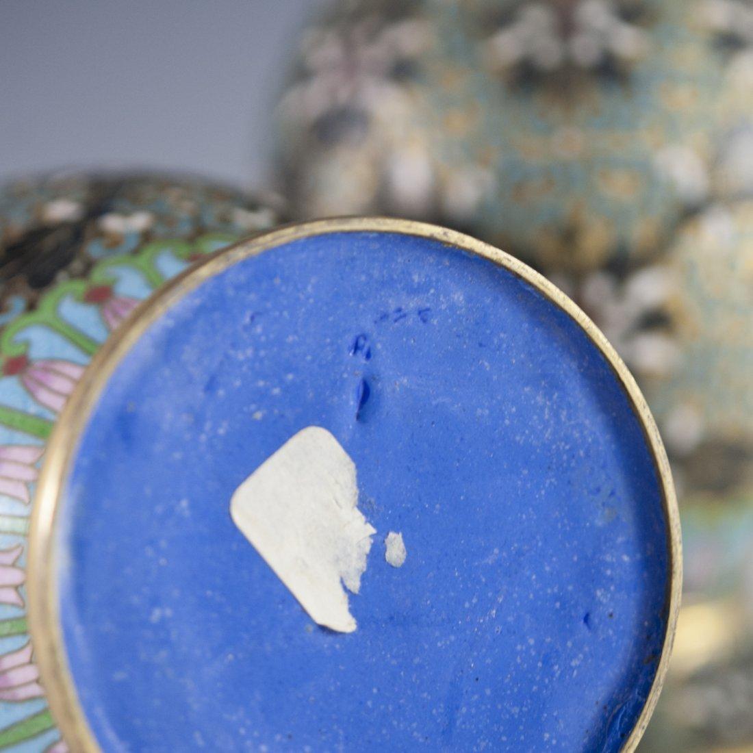 Vintage Cloisonne Enameled Vases - 3