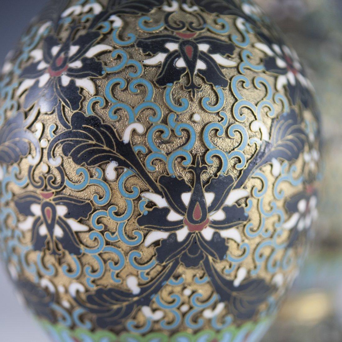 Vintage Cloisonne Enameled Vases - 5