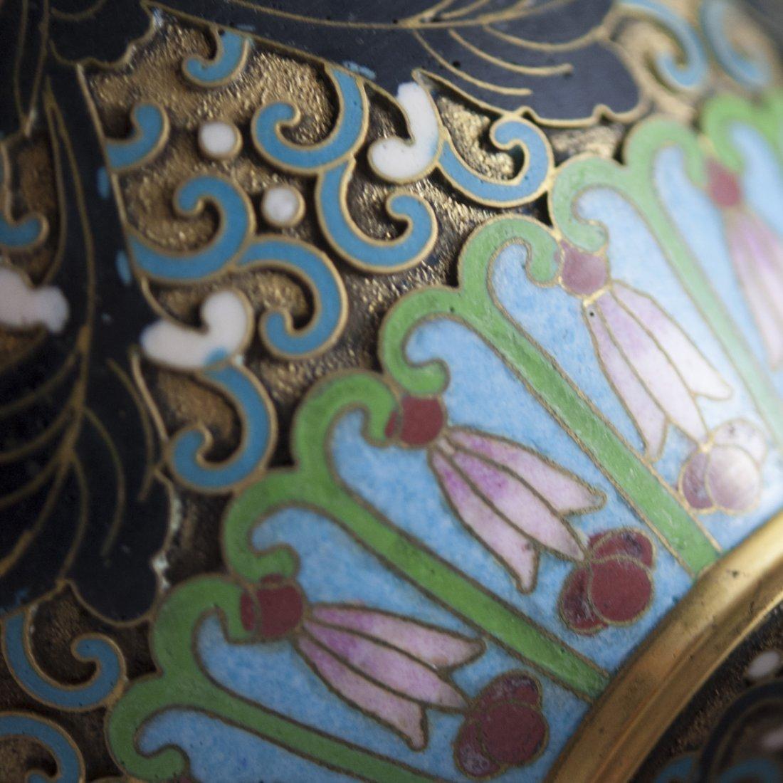 Vintage Cloisonne Enameled Vases - 6