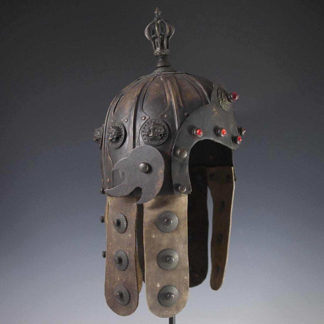 Antique Chinese Helmet - 5