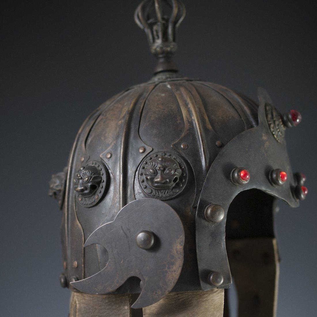 Antique Chinese Helmet - 6