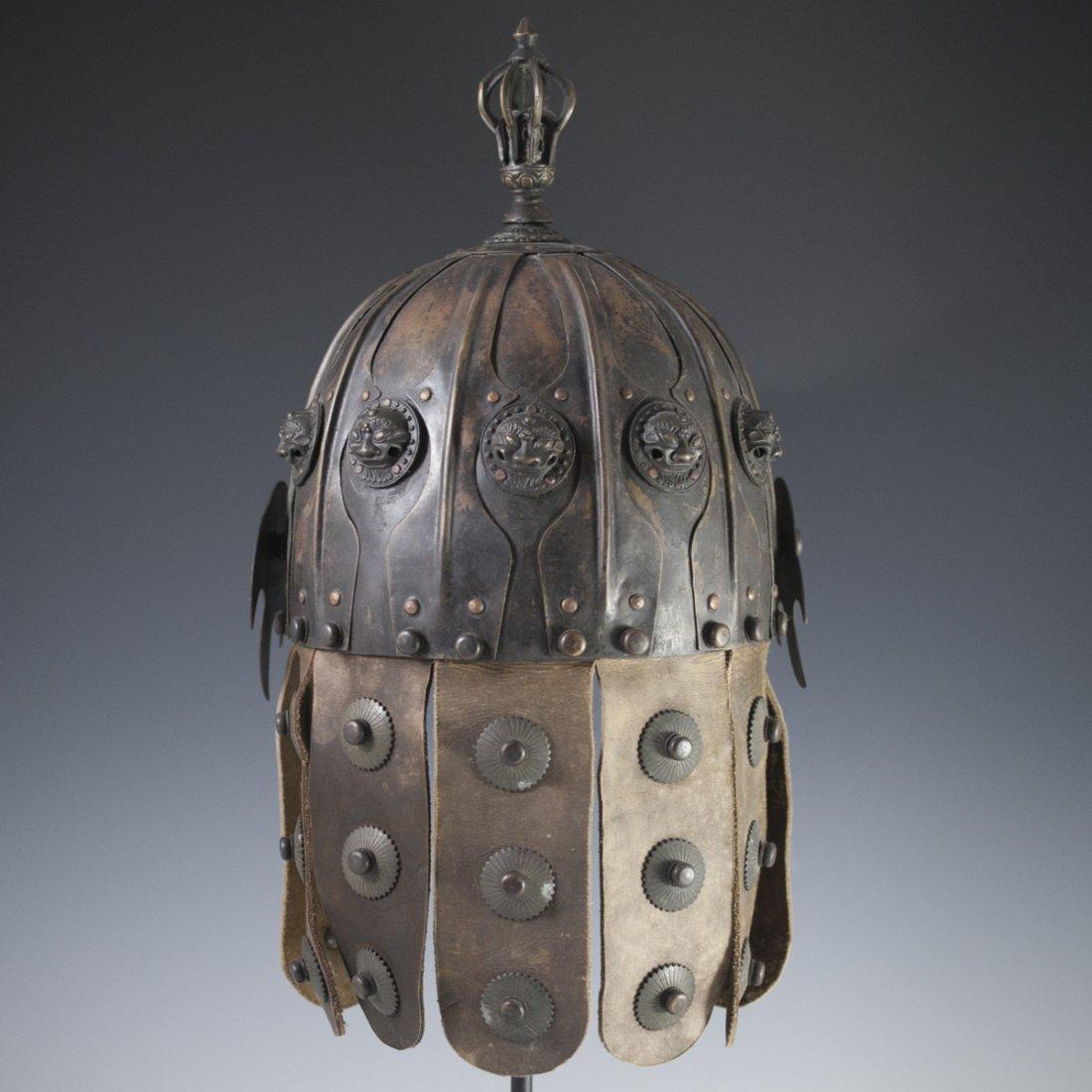 Antique Chinese Helmet - 8