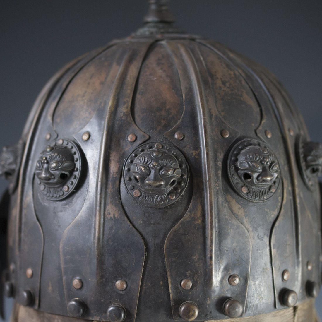 Antique Chinese Helmet - 9
