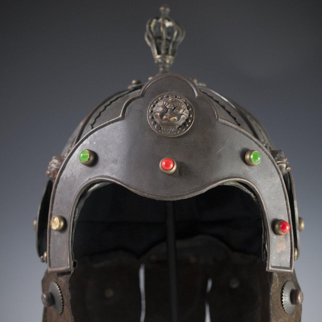 Antique Chinese Helmet - 3