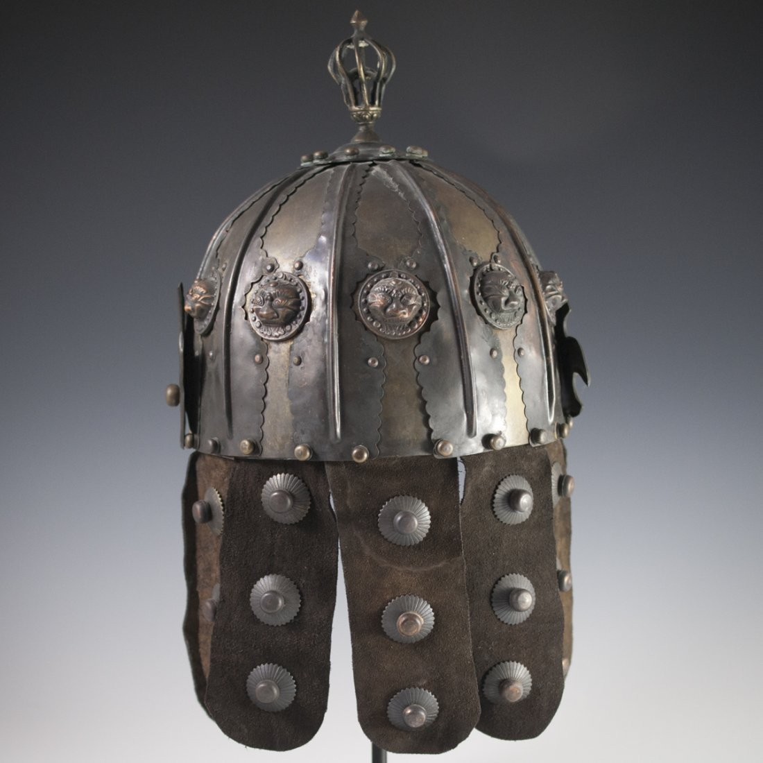 Antique Chinese Helmet - 7