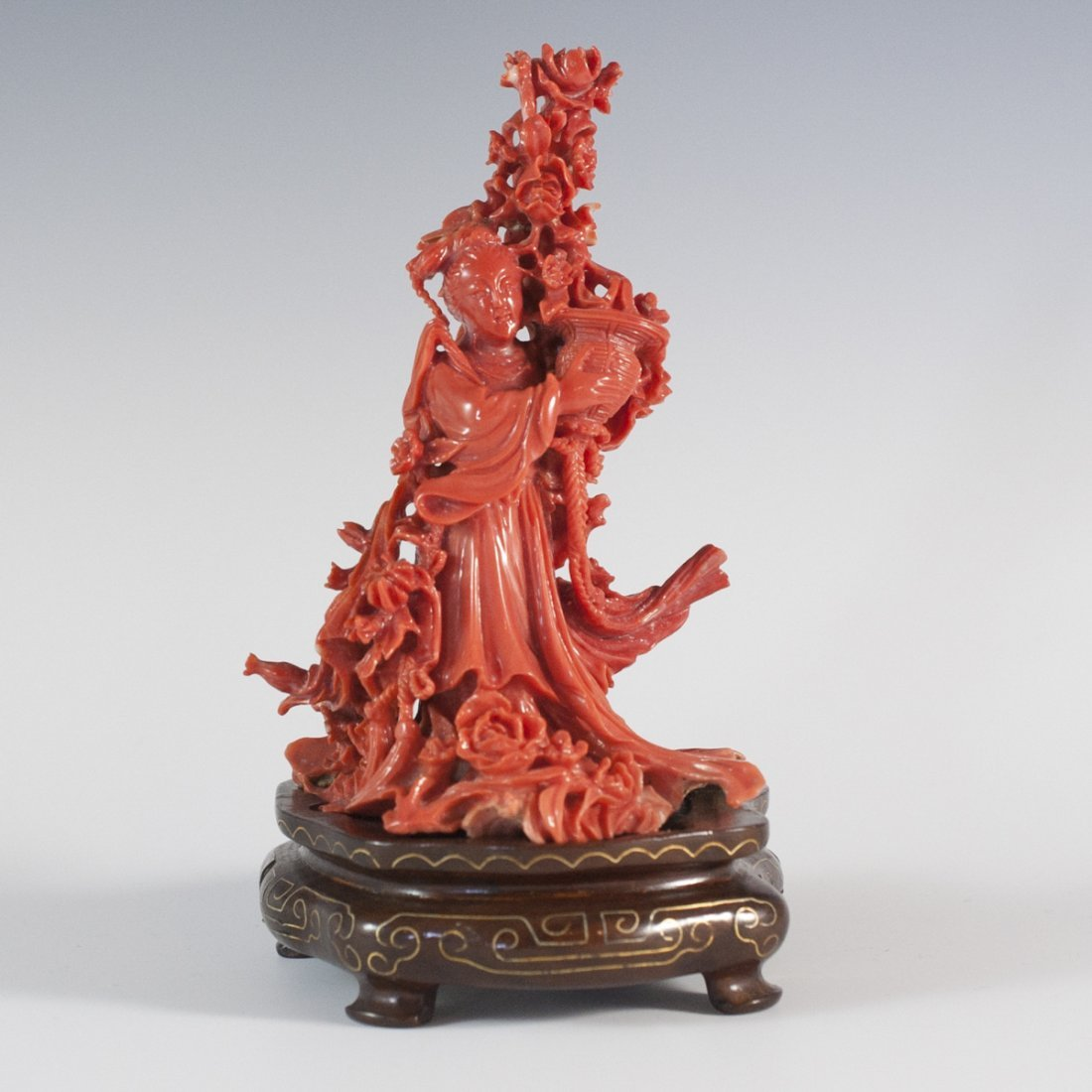 Chinese Guanyin Coral Carving