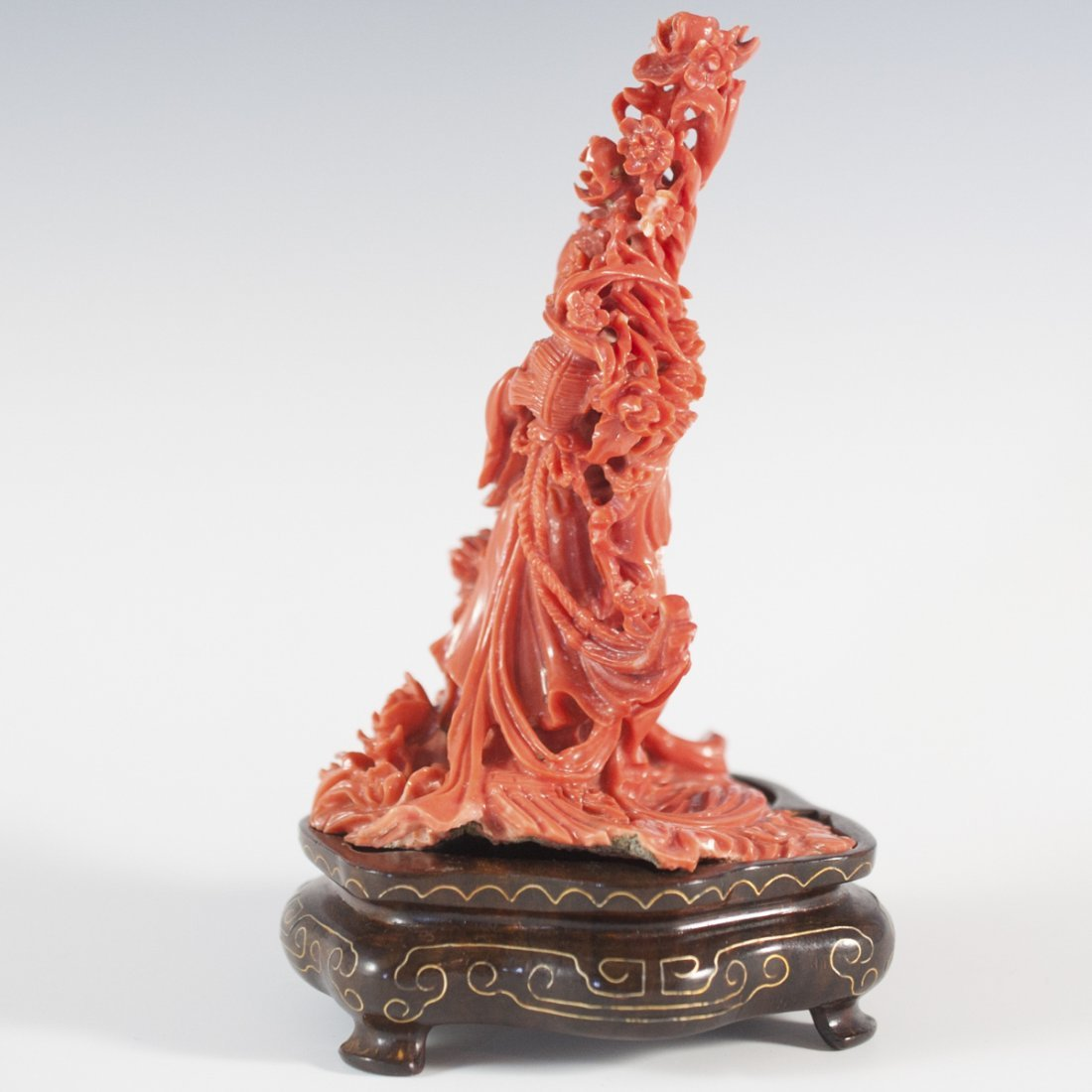 Chinese Guanyin Coral Carving - 2