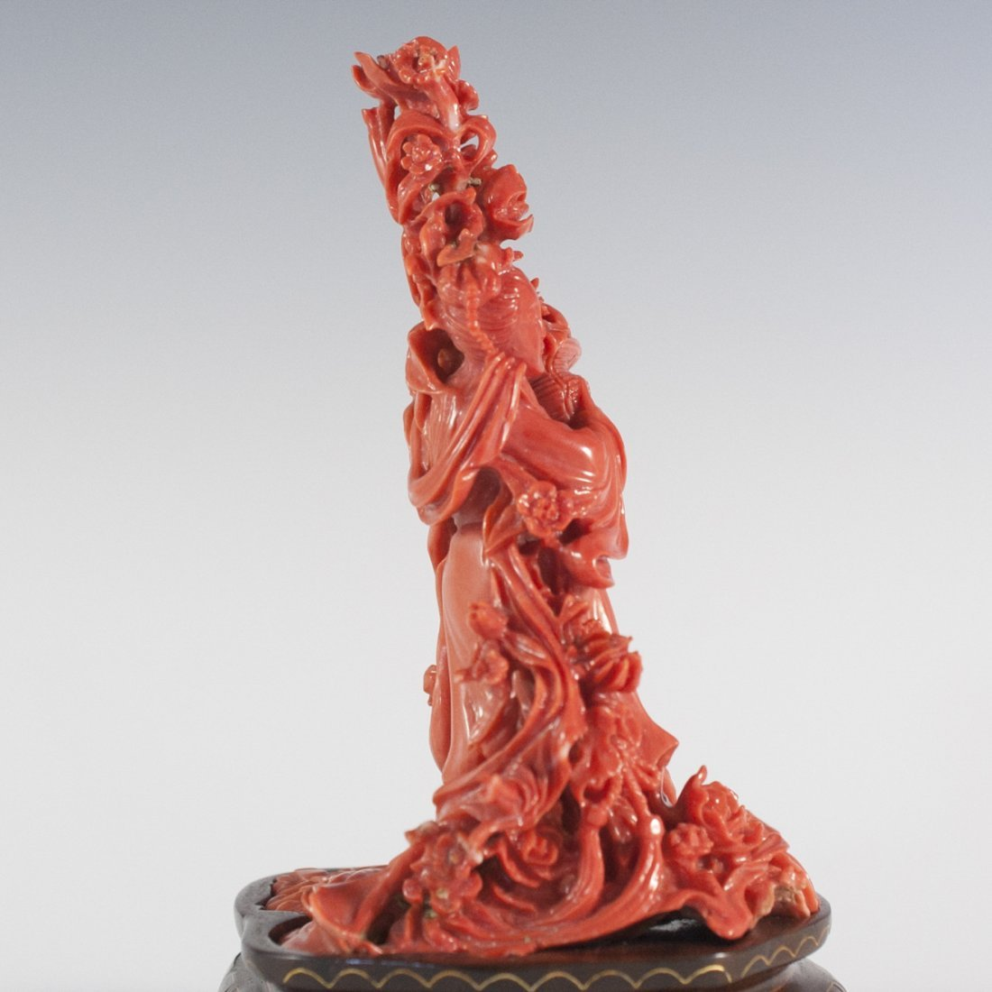 Chinese Guanyin Coral Carving - 3