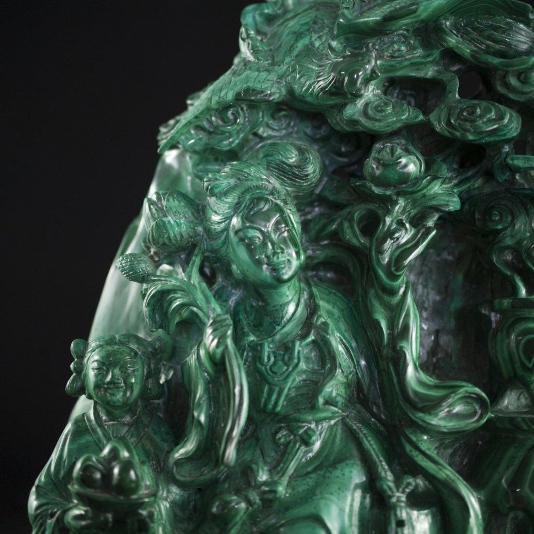 Chinese Malachite Sculpture - 2