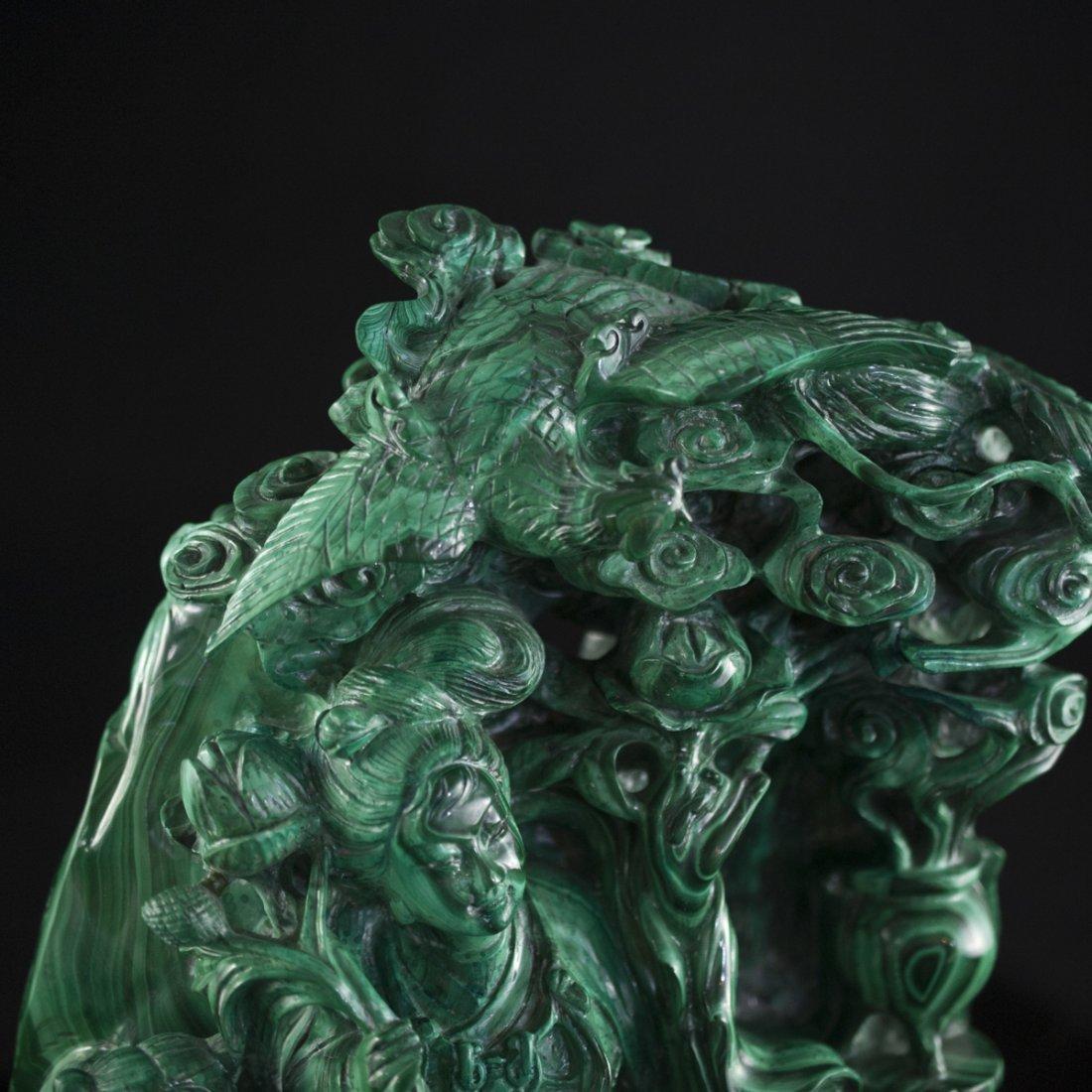 Chinese Malachite Sculpture - 4