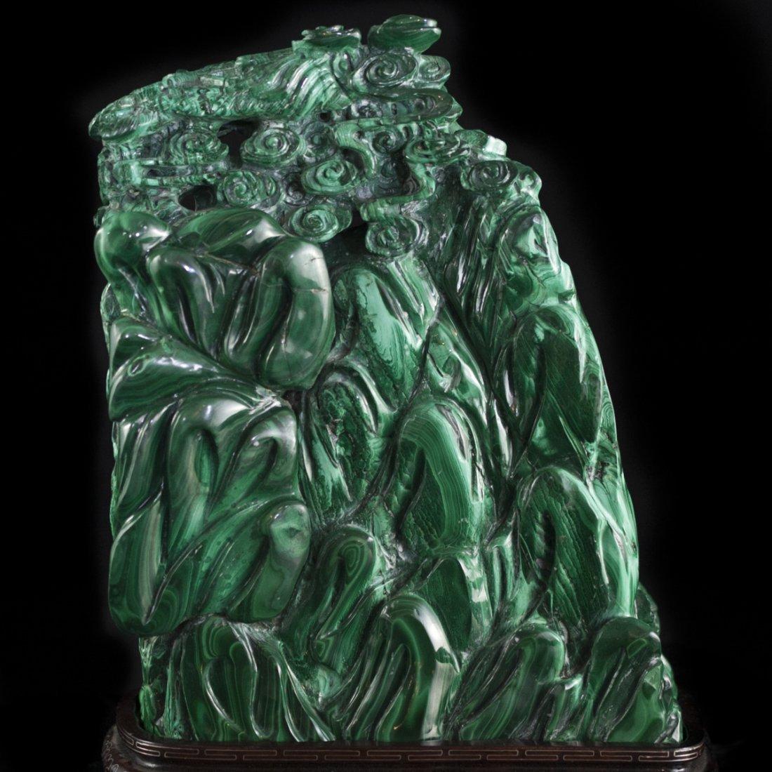 Chinese Malachite Sculpture - 5