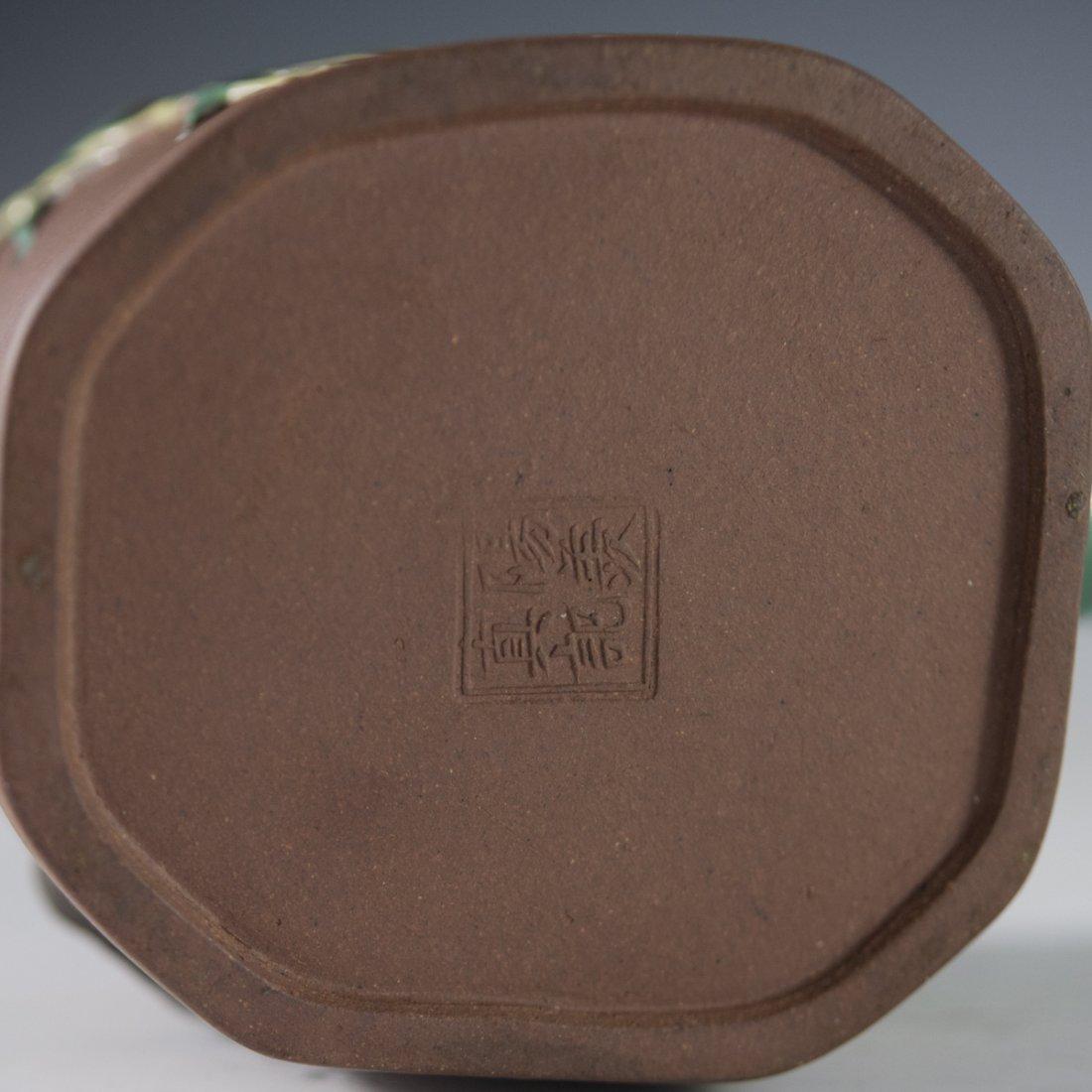 Enameled Chinese Terracotta Teapot - 3