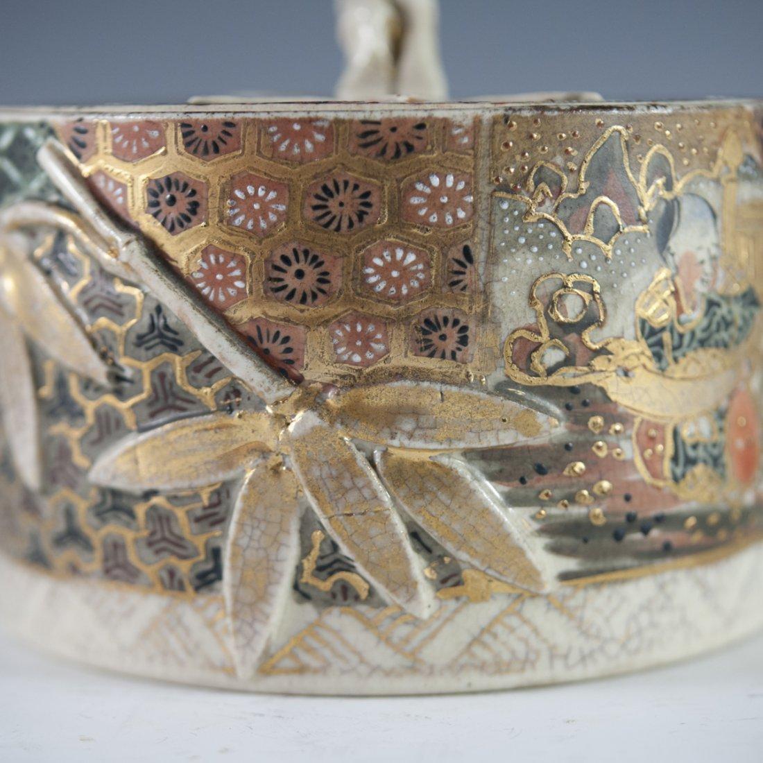Antique Japanese Satsuma Porcelain Box - 2