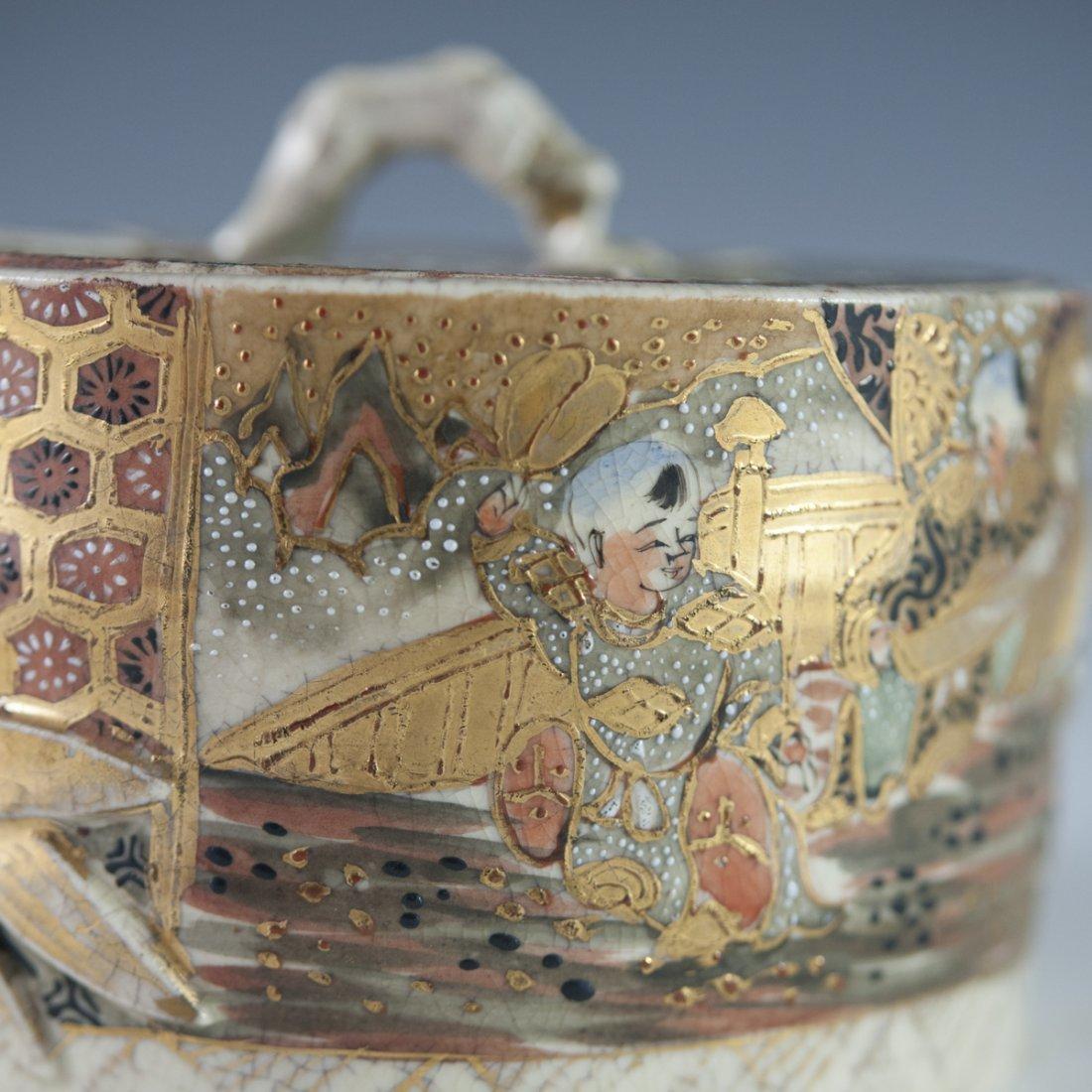 Antique Japanese Satsuma Porcelain Box - 5