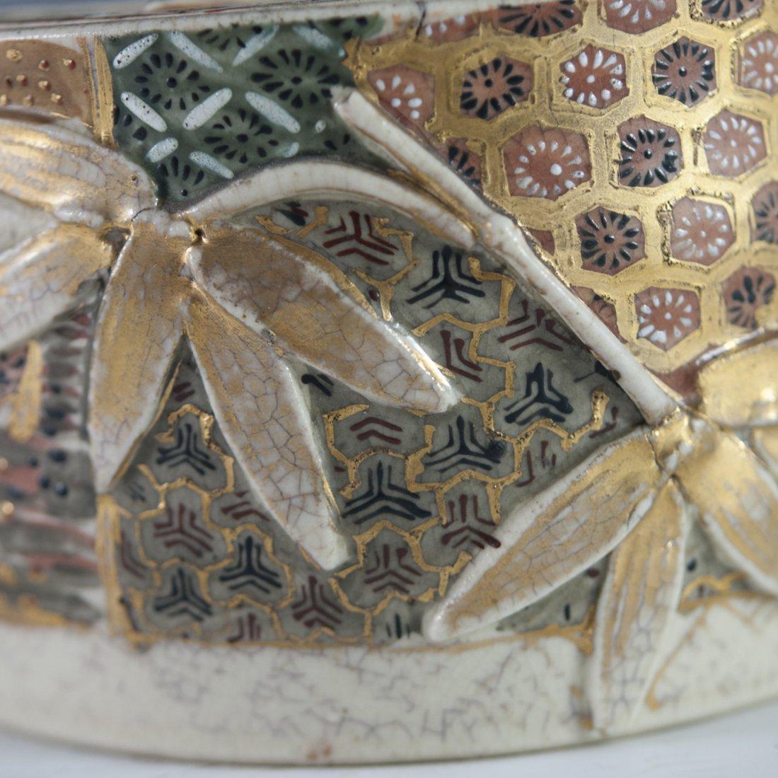 Antique Japanese Satsuma Porcelain Box - 6