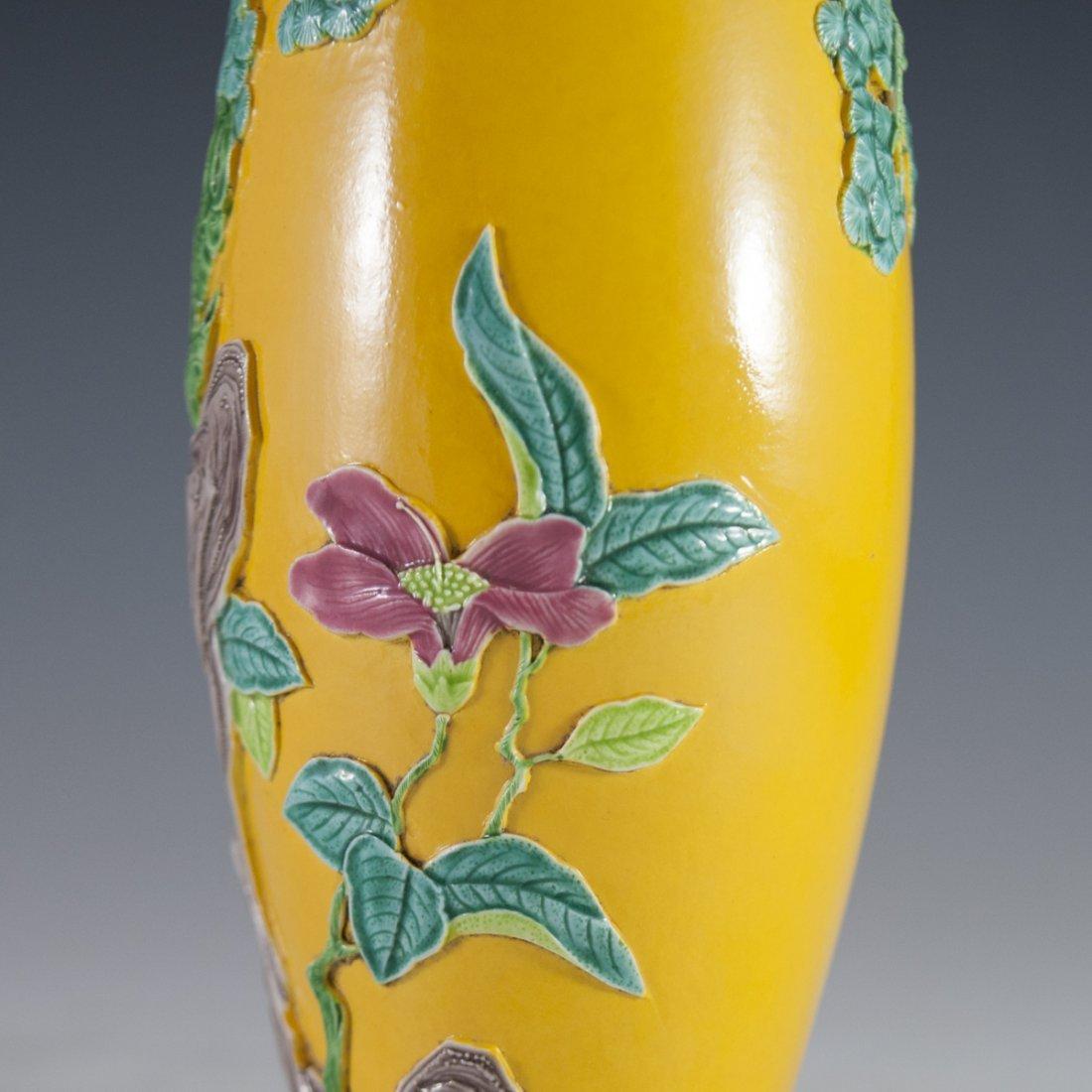 Antique Molded Chinese Porcelain Vase - 5