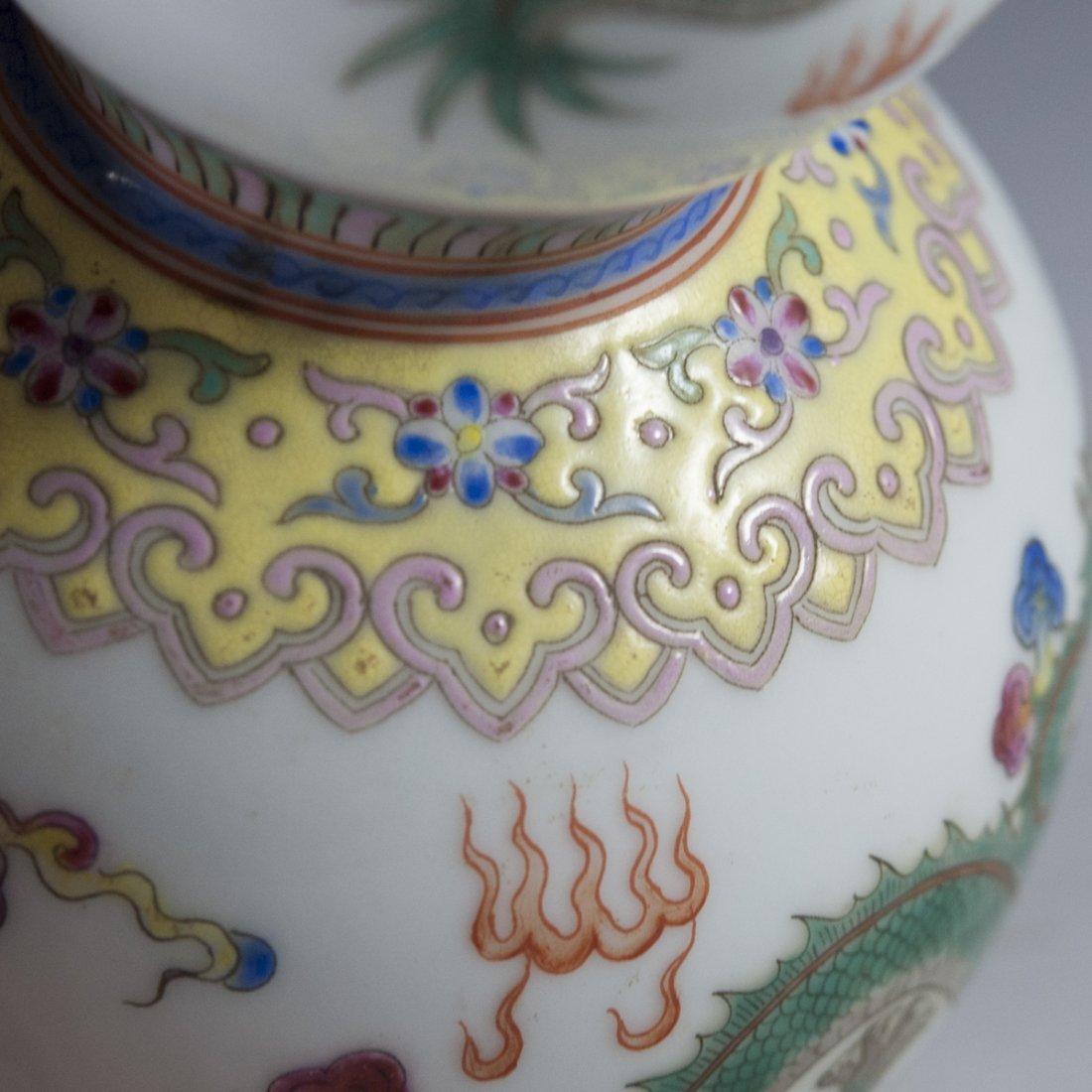 Chinese Famille Jaune Double Gourd Vase - 8