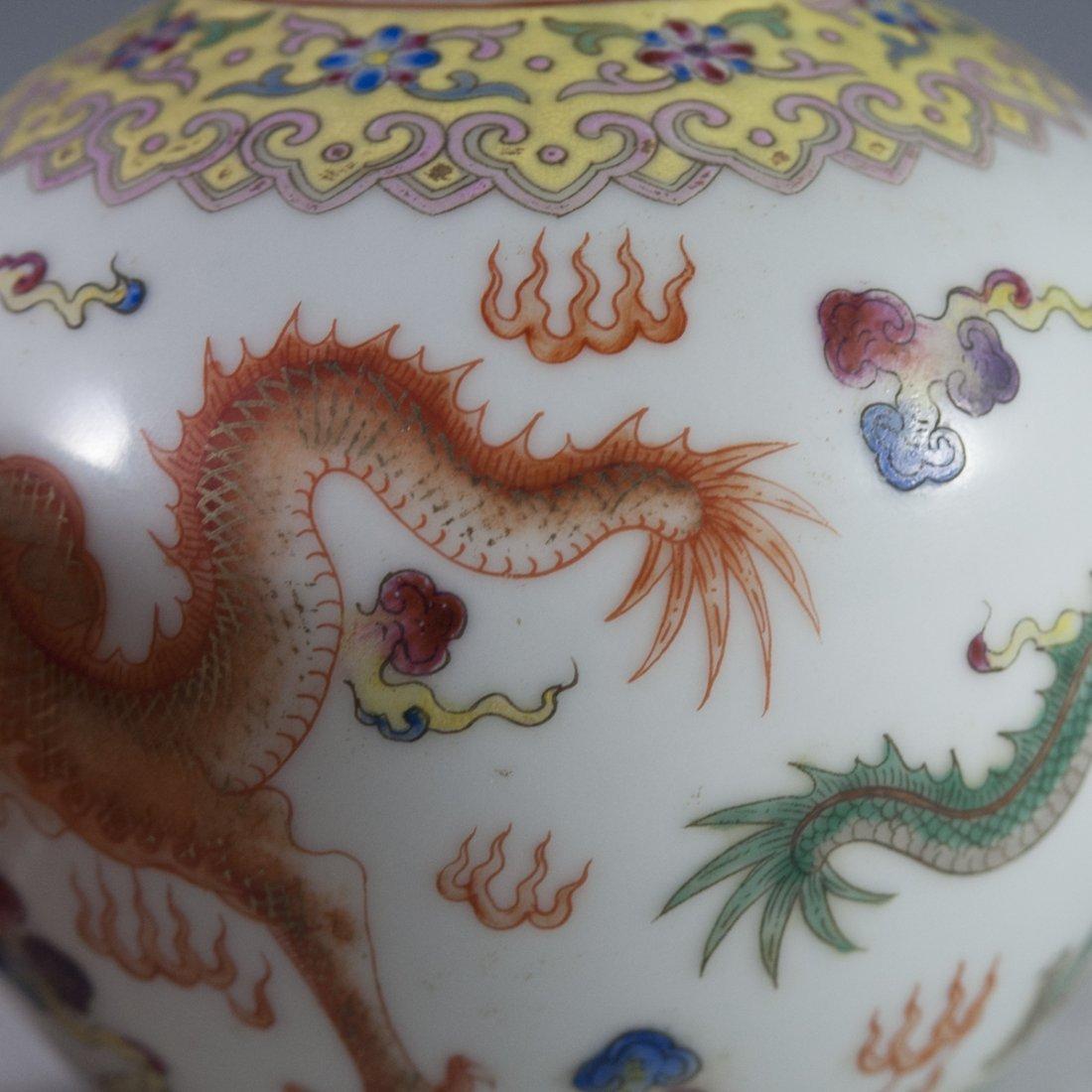 Chinese Famille Jaune Double Gourd Vase - 9
