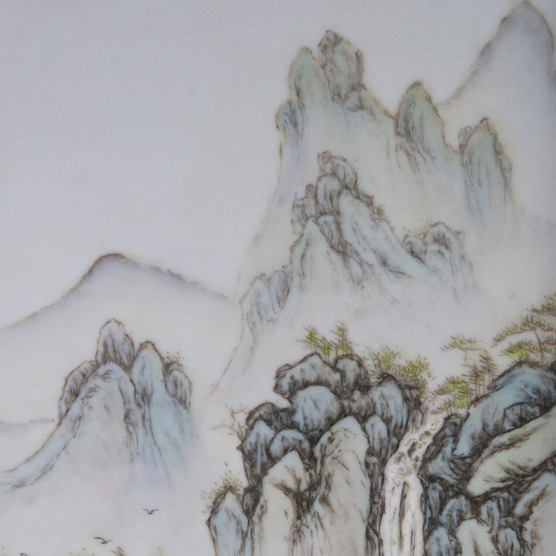 Antique Chinese Porcelain Plaque - 4