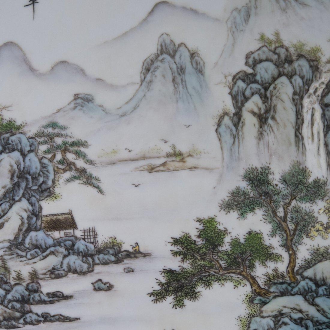 Antique Chinese Porcelain Plaque - 5