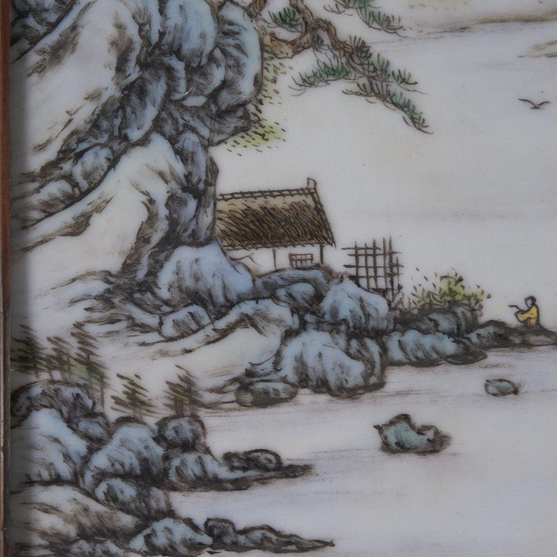 Antique Chinese Porcelain Plaque - 6