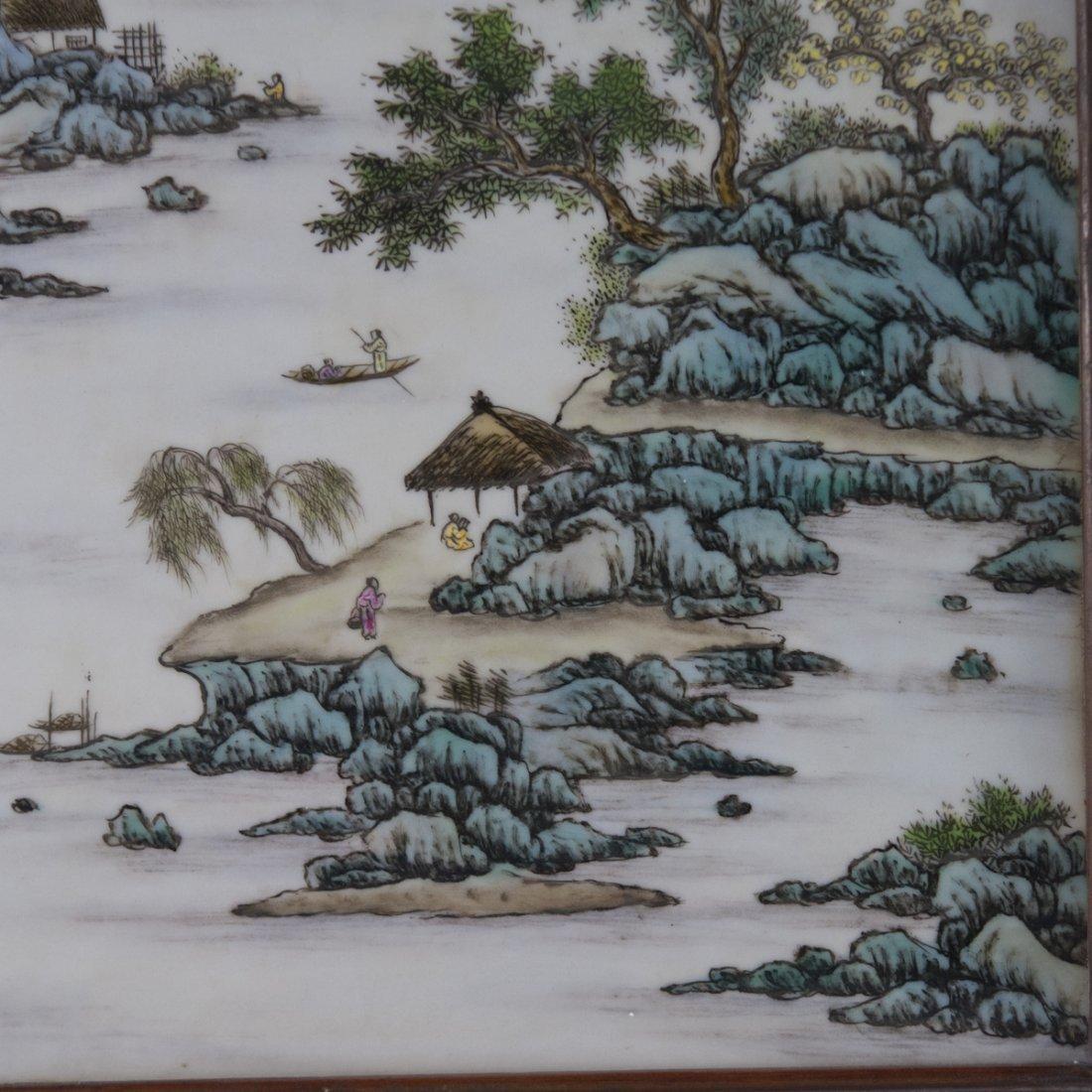 Antique Chinese Porcelain Plaque - 7