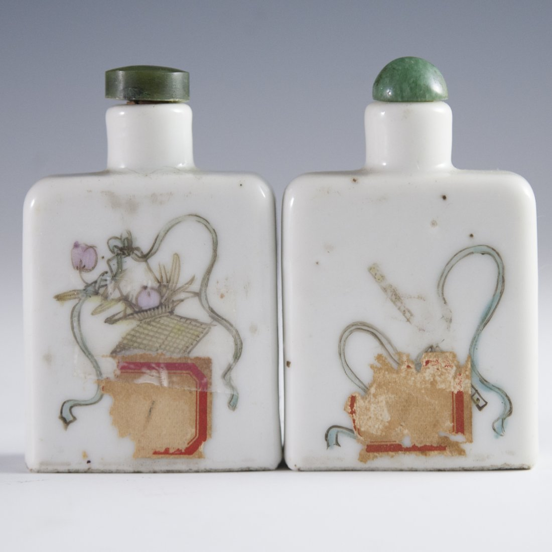 Pair of Antique Chinese Porcelain Snuff Bottles