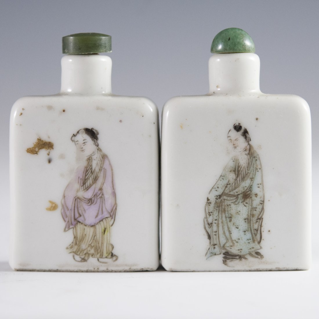 Pair of Antique Chinese Porcelain Snuff Bottles - 4