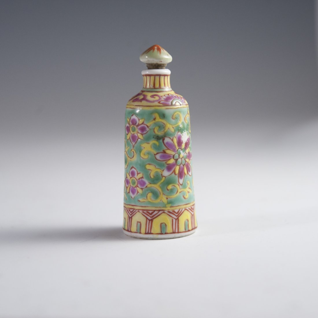 Famille Jaune Chinese Porcelain Snuff Bottle - 5