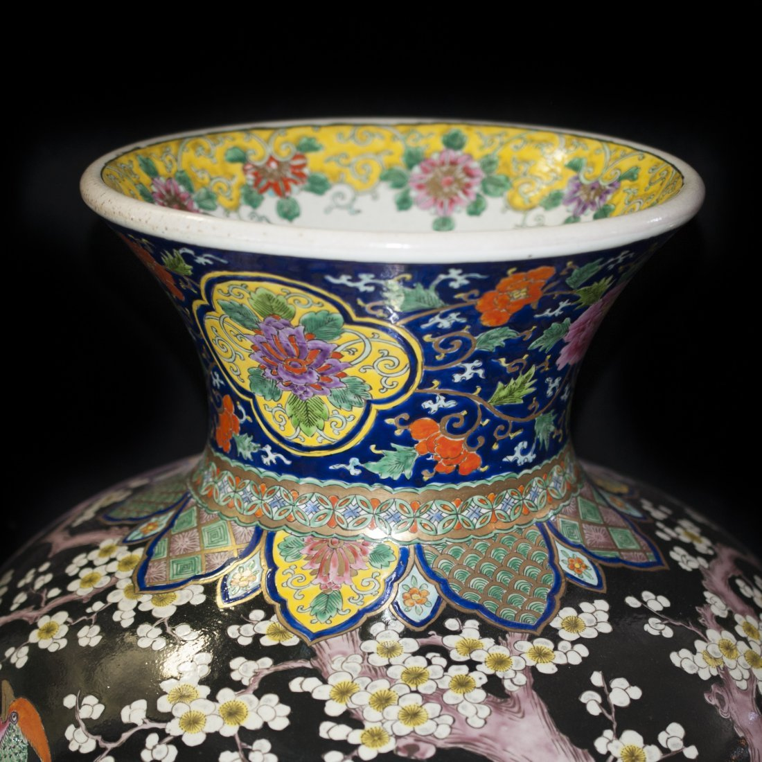 Palace Size Japanese Porcelain Vase - 3