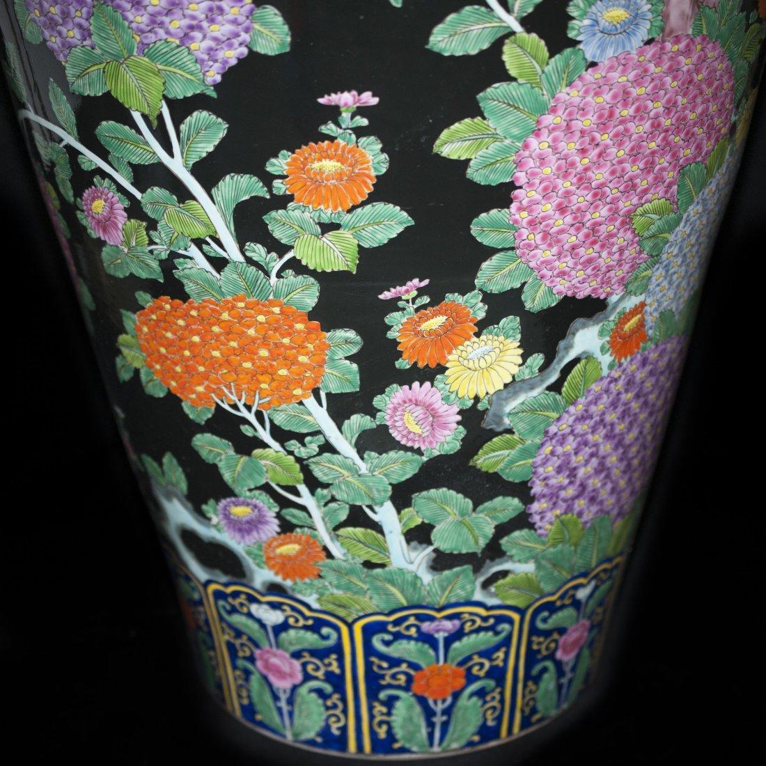 Palace Size Japanese Porcelain Vase - 6